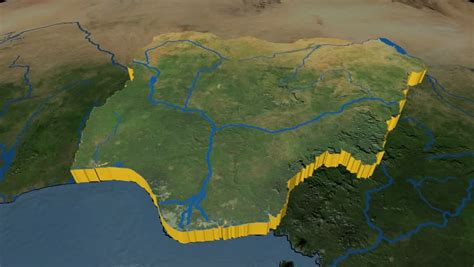 world map rivers and lakes nigeria extruded on the world map rivers and lakes shapes