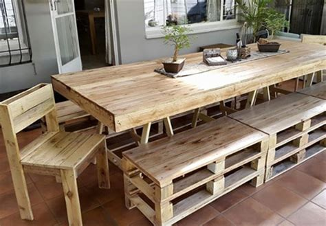 dining table made from pallets home dzine home decor dining tables and chairs made from