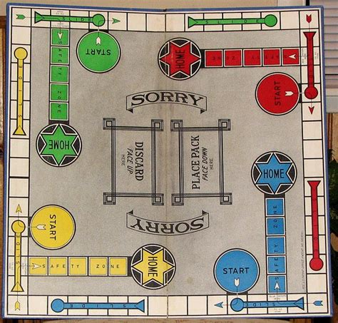 printable sorry instructions parker brothers 1934 sorry game
