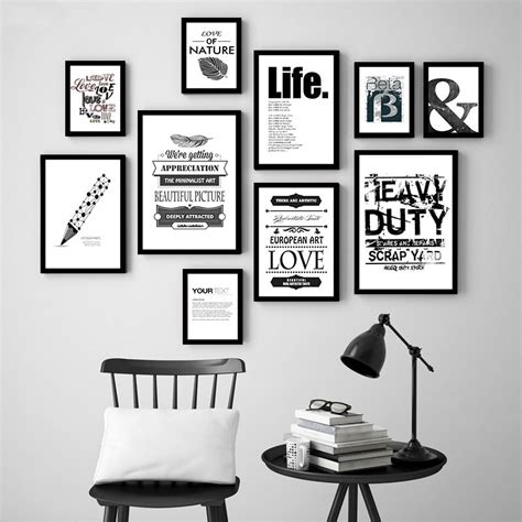 Wood Frame Poster Hiasan Dinding Coffee 18 compare prices on black and white wall pictures