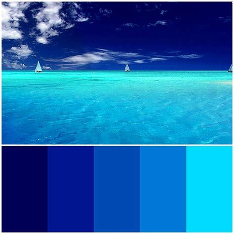 the sea colors blue palette design inspiration in 2018
