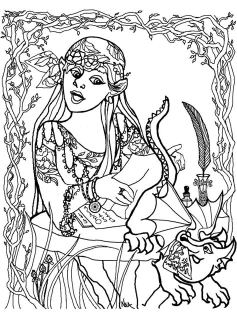 girl dragon coloring page girl with baby dragon coloring pages pinterest
