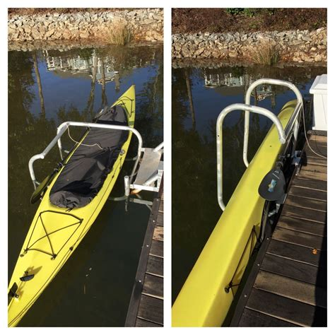 boat dock kayak storage kayak stow go kayak launch and storage system for your