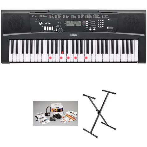 Yamaha Ez 220 Lighted 61 Key Portable Keyboard Basics Ez