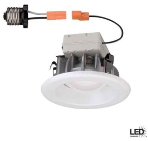 commercial electric 4 in recessed white led trim