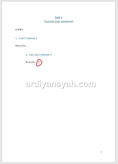 cara membuat daftar isi skripsi otomatis di word 2007 share information and stories cara membuat daftar isi