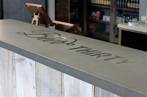 concrete bar tops concrete bar top craftsman wine cellar san francisco
