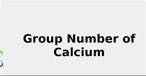 group number  calcium  sources