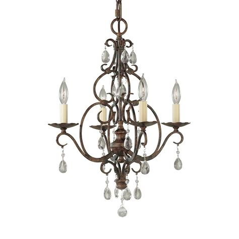Bronze Mini Chandelier Feiss Chateau 4 Light Mocha Bronze Mini Chandelier F1904 4mbz The Home Depot