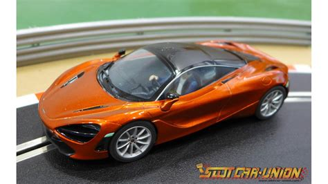 orange mclaren 720s scalextric c3895 mclaren 720s azores orange slot car union
