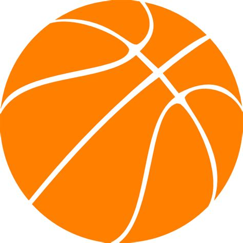 basketball clipart vector orange basketball clip at clker vector clip