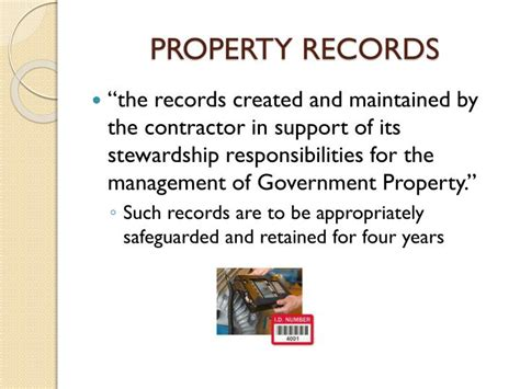 Government Property Records Ppt Far Part 45 Government Property Powerpoint Presentation Id 2854107