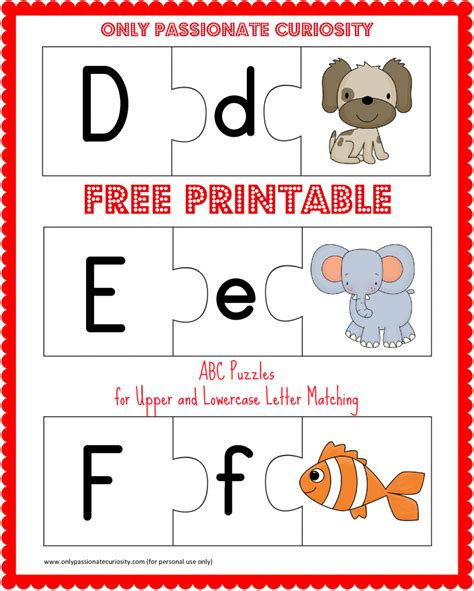 Printable Alphabet Puzzles | free printable abc puzzles upper and lowercase letter