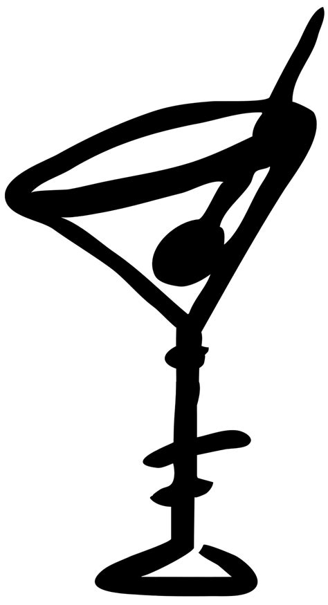 cocktail silhouette png pictures of glasses clipart best