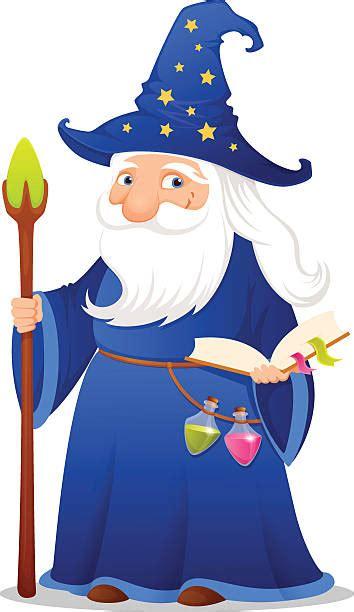 merlin  wizard illustrations royalty  vector