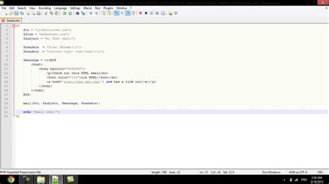 tutorial php send email how to send html email in php youtube