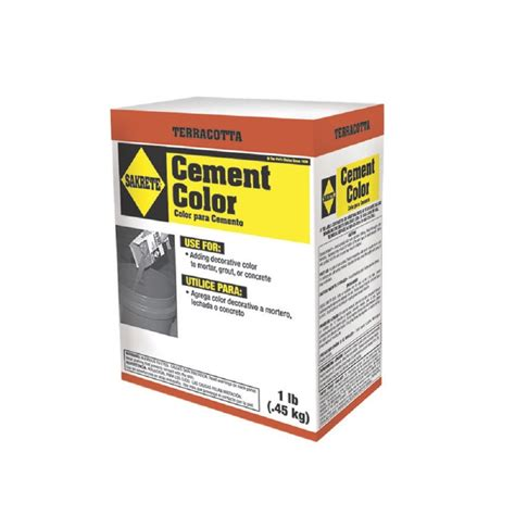 shop sakrete terracotta cement color mix at lowes