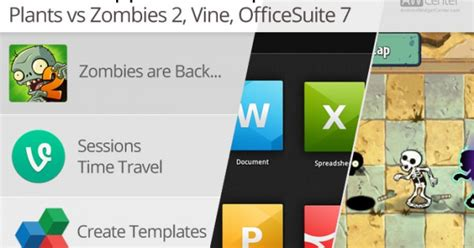 app updates android android app updates 10 26 13 plants vs zombies 2 vine officesuite