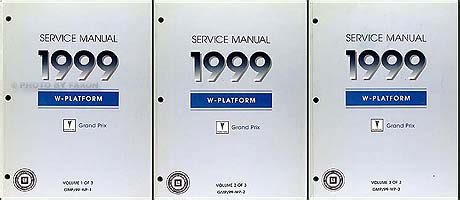 free car repair manuals 2000 pontiac grand prix user handbook 1999 pontiac grand prix repair shop manual original set