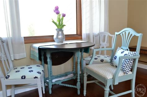 Refinishing Dining Chairs Painted Reupholstered Dining Chairs Mix Match Challenge Refresh Living
