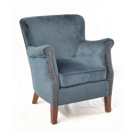 blue armchair inadam furniture blue velvet armchair fabric chair