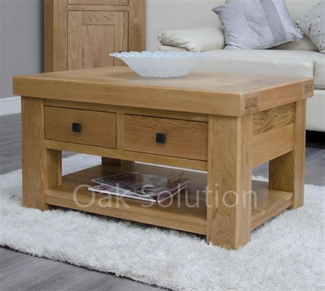 Solid Oak Coffee Table With Storage Solid Oak Furniture Storage Coffee Table With