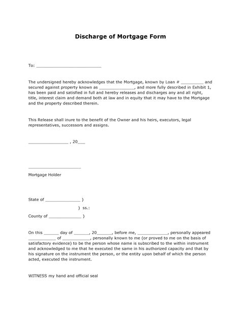 Loan Discharge Letter Format free financial forms pdf template form