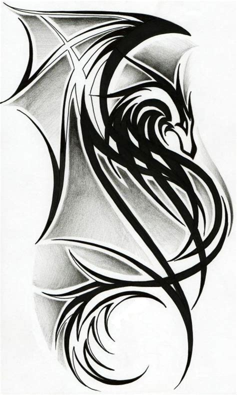 black tribal dragon tattoo designs tribal designs best design