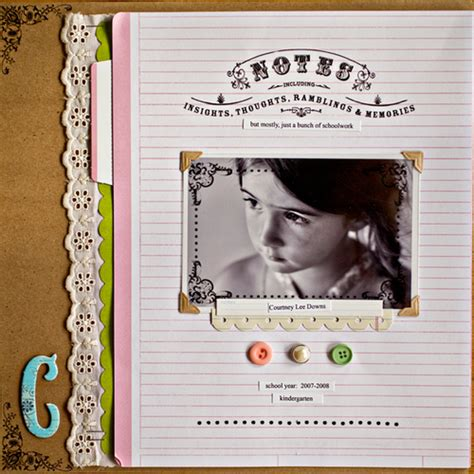 Scrapbook Layout About You by Emmett Pettey Click On The Scrapbook Layout