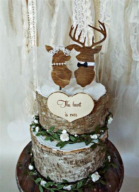 Hochzeitstorte Jagd by Deer Wedding Buck And Doe Wedding Cake Topper Deer Lover