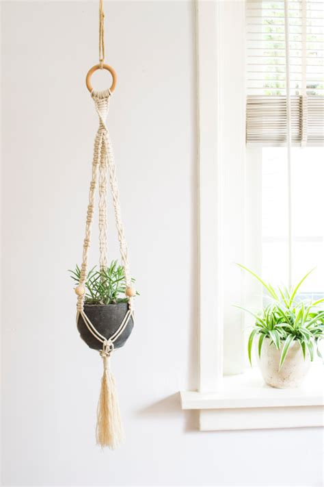 Macrame Cord For Plant Hangers - macrame plant hanger 32 inch 1 8 inch braided cotton cord