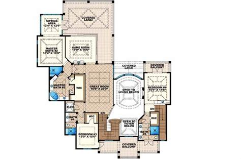 monster house floor plans coastal style house plans 8899 square foot home 2 story 5 bedroom and 5 bath 4