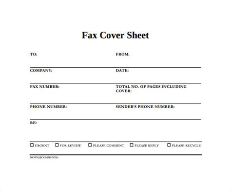 sle blank fax cover sheet 14 documents in pdf word