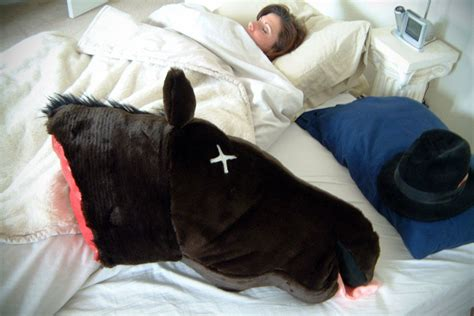 godfather horse head pillow severed horse head pillow mikeshouts