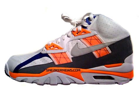 bo jackson basketball shoes nike air trainer sc high white total orange