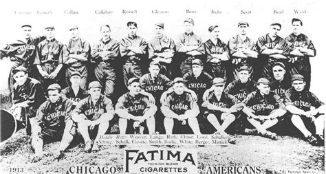 thedeadballera 1913 chicago white sox team photo