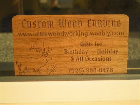 custom  business cards  woodworking custommadecom