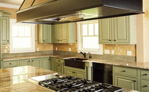 green gold kitchen wolf custom tile and design