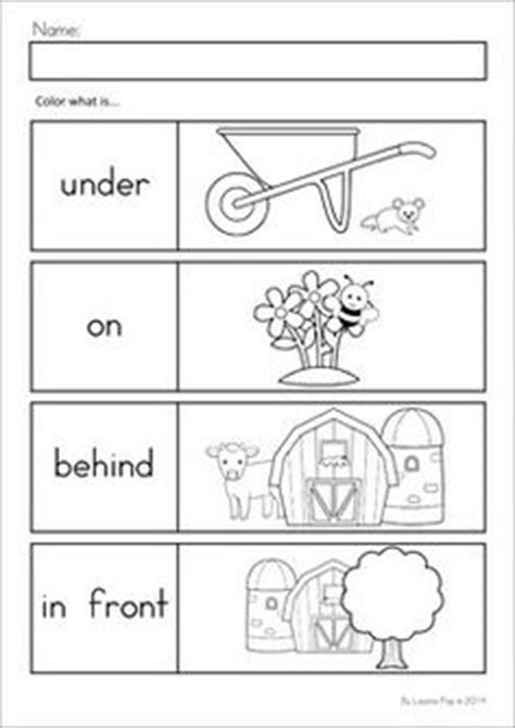 Preschool Positional Words Worksheets by 1000 Images About K Math On Ten Frames 3d