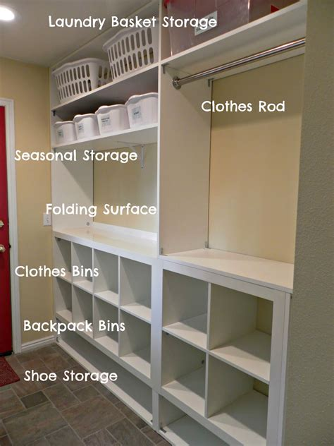 Laundry Room Storage Ideas Be Book Bound Huckleberry Finn Laundry And Mud Room Remodel