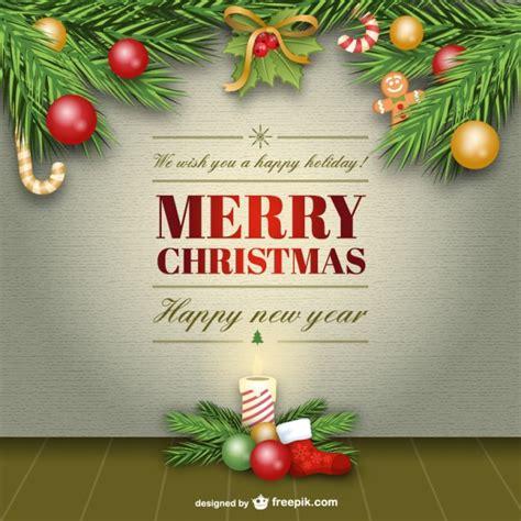 elegant merry christmas card  vector