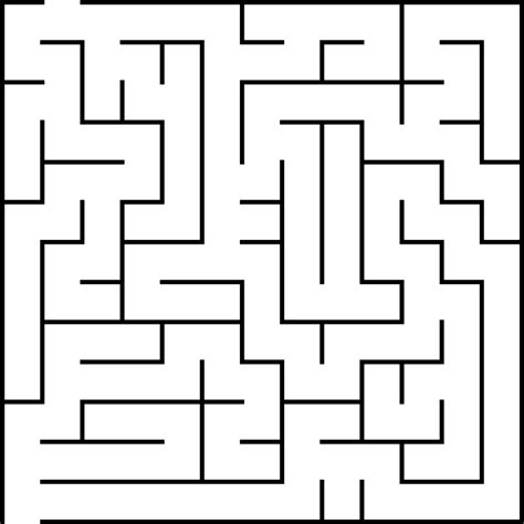 maze clipart simple pencil and in color maze clipart simple