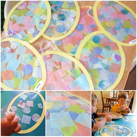 Tissue Paper Easter Crafts - tissue paper collage easter eggs preschool easter project