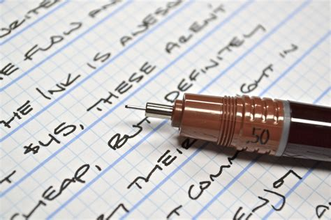 best writing paper for pens rotring rapidograph technical pen 0 50mm the clicky post