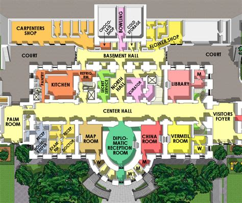 white house layout floor plan ground floor white house museum