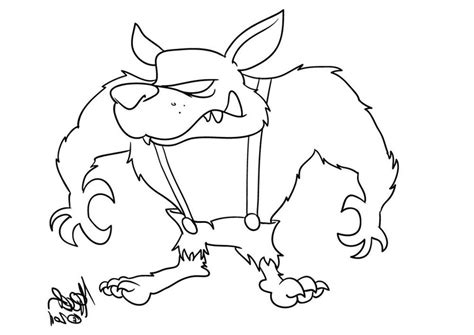 Print Download Wolf Coloring Pages Theme Big Bad Wolf Coloring Page