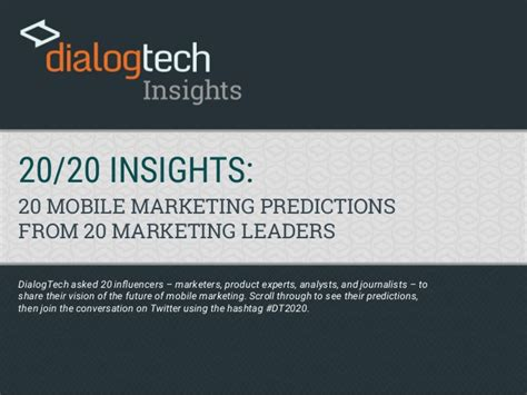 insights mobile 20 20 insights mobile marketing predictions from 20