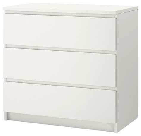 White Malm Chest Of Drawers by Malm 3 Drawer Chest White Chests Of