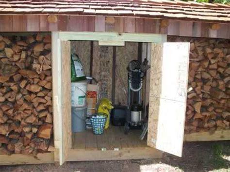 firewood storage shed youtube