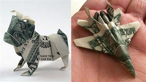 Cool Origami Projects - 25 awesome money origami tutorials diy projects for